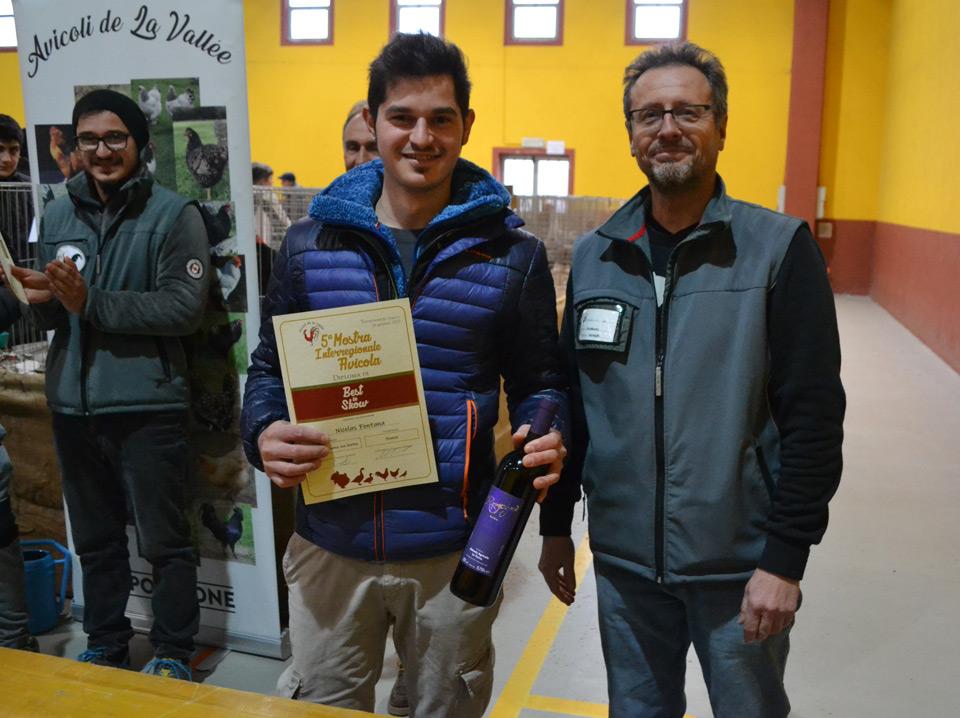 Allevatori premiali alla mostra sociale Avicoli de la Vallée 2020